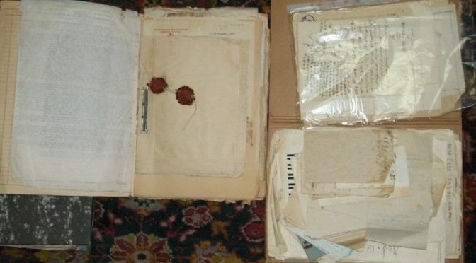 Picture 1-Example of files from Ethiopian Archives